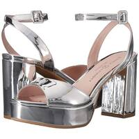 Chinese Laundry Womens Trixi Mirror Open Toe Ankle Strap Platform Pumps