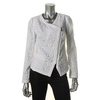 Laundry by Shelli Segal Womens Textured Embroidered Jacket