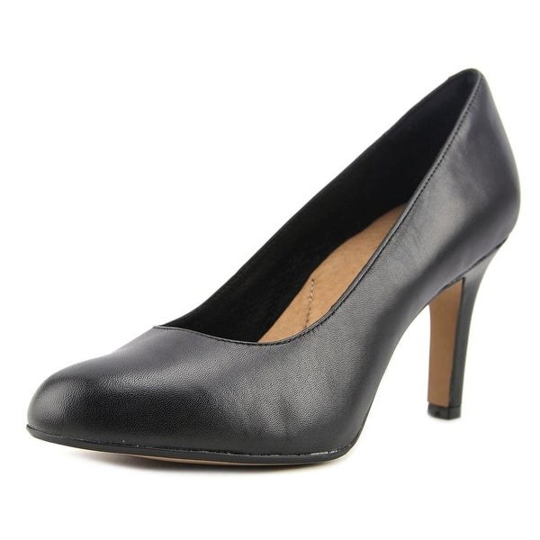 Clarks Heavenly Star Women Round Toe Leather Black Heels
