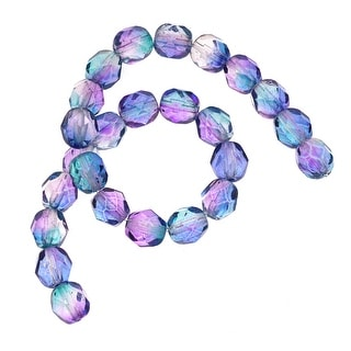 Link to Czech Fire Polished Glass Beads 6mm Round Two Tone Purple/Blue (25) Similar Items in Jewelry & Beading