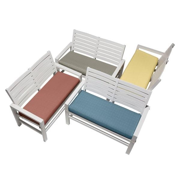 Shop Duck Covers Weekend Water Resistant Outdoor Bench Cushion Overstock 31316233