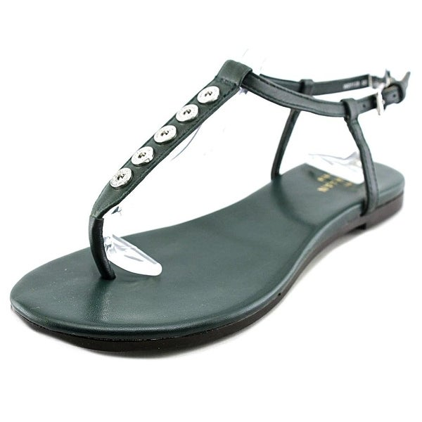 Cole Haan Effie Sandal Women Open Toe Leather Green Thong Sandal