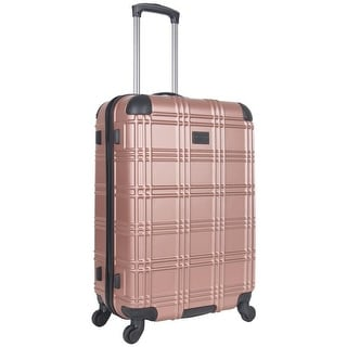Ben Sherman Nottingham 24-inch Lightweight Hardside 4-wheel Spinner Upright Checked Suitcase