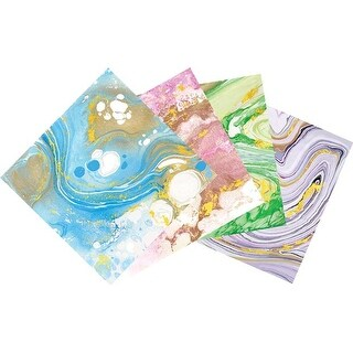 "Assorted Colors - Sizzix Metallic Marble Sheets 6""X6"" 8/Pkg"