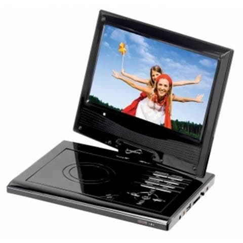 Supersonic SC-178DVD 7 in. Portable DVD Player with USB SD Card Slot and Swivel Display