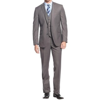 Kenneth Cole Reaction Mens Two-Button Suit 3PC Slim Collection - 42s