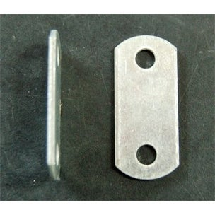 """Flat ( 0"""" ) Depth --- Offset Mounting Canvas Z Clips For Picture Framing -- #6 X 3/8"""" Pan-Head Screws Included -- P - 10 pack"""