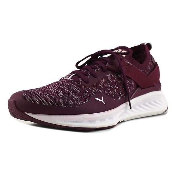 Puma Ignite EvoKnit Lo Women Round Toe Synthetic Purple Sneakers