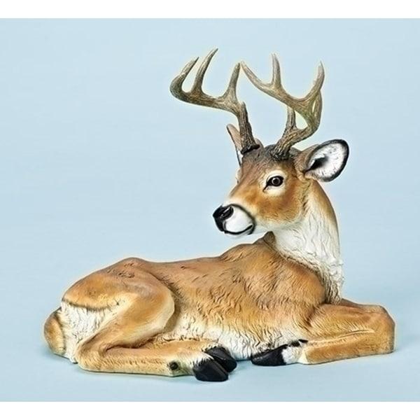 """12"""" Joseph's Studio Woodland Inspired Laying Buck with Antler Christmas Figure"""