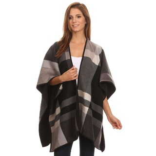 Womens Reversible Plaid Poncho (3 options available)