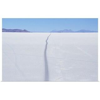 """Road through salt desert"" Poster Print"