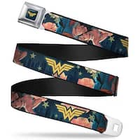 Wonder Woman Logo Full Color Blue Black Gold Superman Wonder Woman #11 Seatbelt Belt