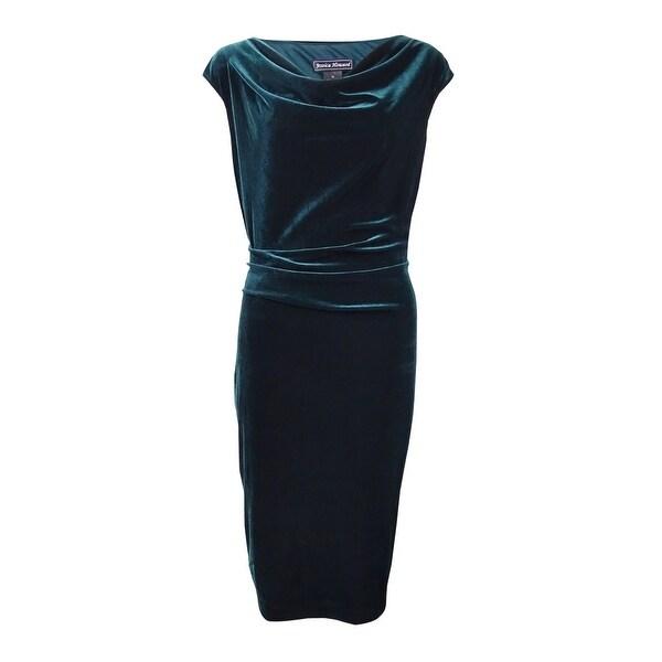 d612579f0f5c Shop Jessica Howard Women's Draped Cowl-Neck Velvet Dress - Free Shipping  Today - Overstock - 17573060