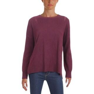 Aqua Cashmere Womens Pullover Sweater Cashmere Distressed
