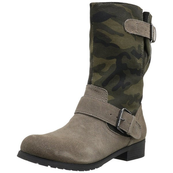 BC Footwear Womens I'm With The Band Round Toe Mid-Calf Fashion Boots