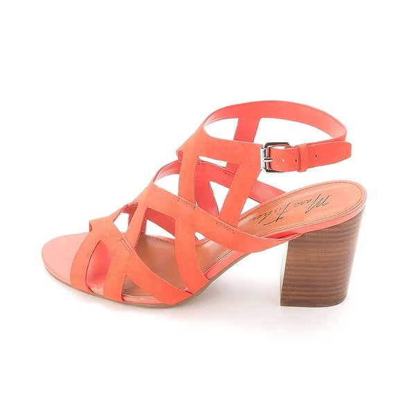 Marc Fisher Womens BLY Leather Open Toe Casual Strappy Sandals
