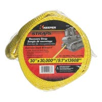 Keeper 02963 Vehicle Recovery Strap, Yellow, 30'