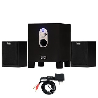Acoustic Audio AA2101 Home 2.1 Speaker System with Bluetooth for Multimedia or Computer