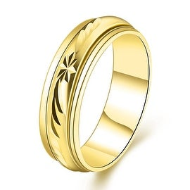 Gold Plated Roman Signing Emblem Band Ring