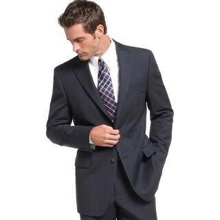 Ralph Lauren Mens Classic Fit Glen Plaid Wool Sportcoat Blazer 46 Regular Navy