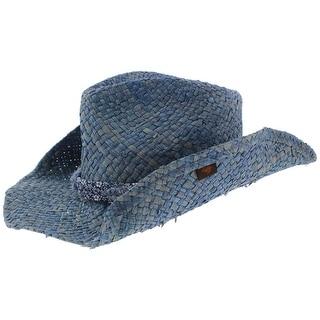 Peter Grimm Womens Cowboy Hat Straw Contrast Trim - o/s