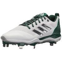 adidas Originals Men's PowerAlley 5 Mid Baseball Shoe, FTWR, White, Size 8.5
