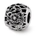Sterling Silver Reflections Flower Bali Bead (4mm Diameter Hole) - Thumbnail 0