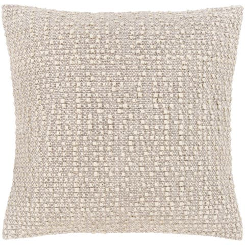The Curated Nomad Tuli Neutral Bohemian Throw Pillow Cover
