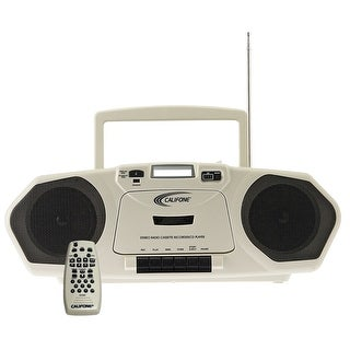 Califone 2385-03 Single Cassette with MP3 Boombox with Built-In Electret Microphone, Model 2385-03