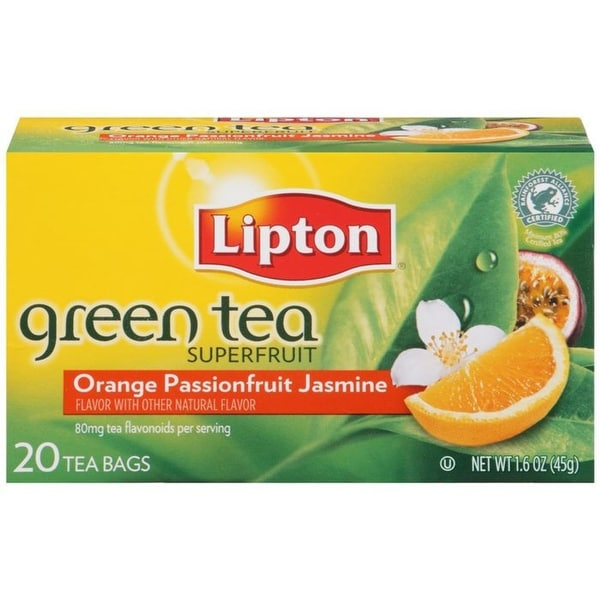 Lipton Superfruit Orange Passionfruit Jasmine Tea Bags 20 ct (Pack of 6)