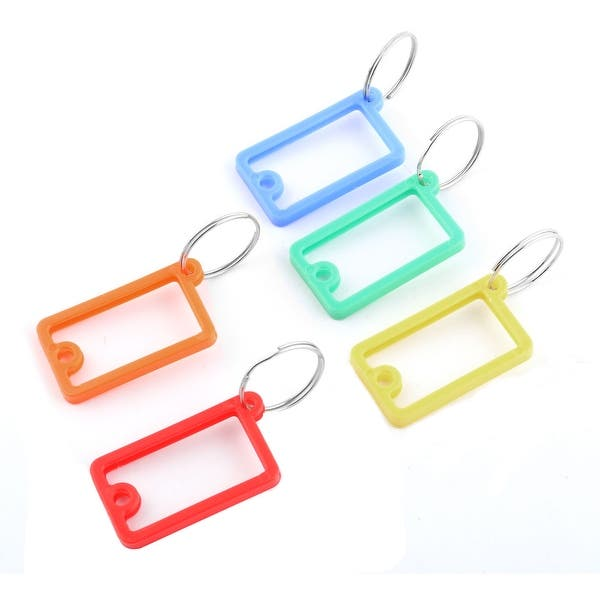 Shop Outdoor Plastic Split Ring ID Label Keyring Name Key