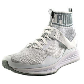 Puma Ignite EvoKnit Round Toe Canvas Sneakers|https://ak1.ostkcdn.com/images/products/is/images/direct/6068e348834fa56ea5b4a72e9884e0bb7bcd6233/Puma-Ignite-EvoKnit-Men-Round-Toe-Canvas-White-Sneakers.jpg?impolicy=medium