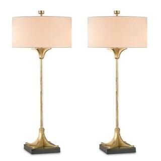 Currey and Company 6010 Falset 2 Light Buffet Table Lamp - dutch gold
