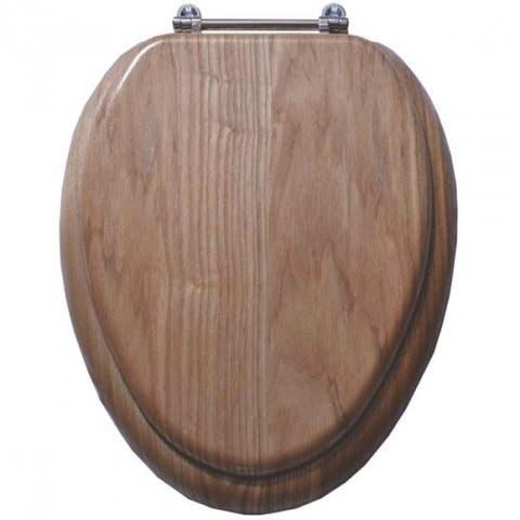 "Mintcraft T-19WO-3L-C Toilet Seat, Natural Oak, 19"""