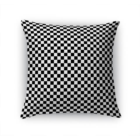 CHECKER BOARD BLACK & WHITE Accent Pillow By Kavka Designs
