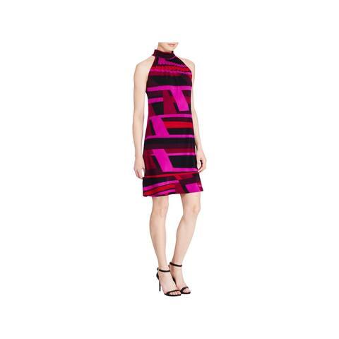 ac0f2dee56f American Living Womens Wear to Work Dress Printed Mock Neck