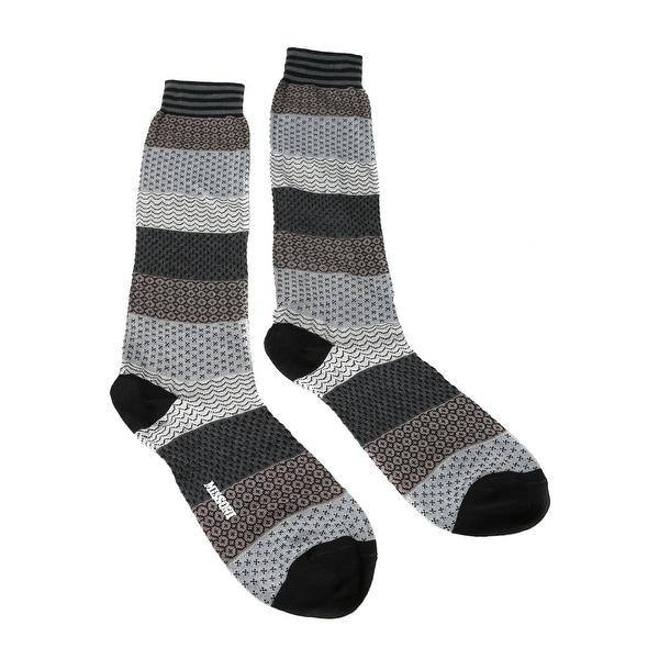 Missoni GM00COU5695 0001 Gray/Black Calf Length Socks - Grey