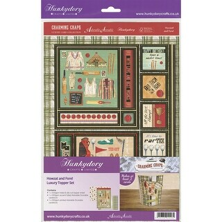 Hunkydory Charming Chaps A4 Topper Set-Howzat And Fore!