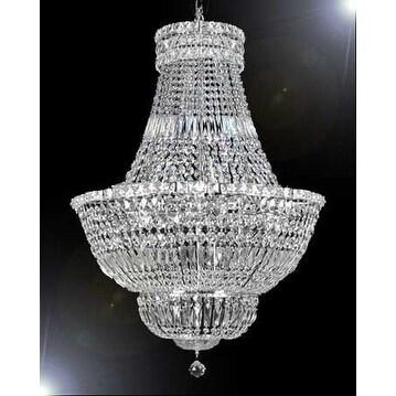 Swarovski Elements Crystal Trimmed French Empire Chandelier Lighting