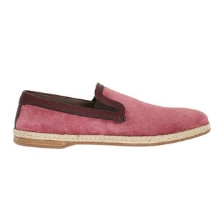 Dolce & Gabbana Dolce & Gabbana Pink Bordeaux Suede Leather Loafers
