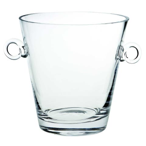 """9"""" Mouth Blown European Glass Ice Bucket or Cooler"""