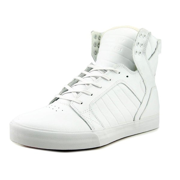 Supra Skytop Men White/Wjite Skateboarding Shoes
