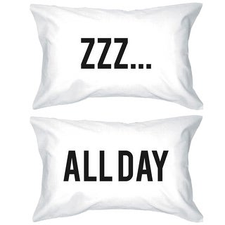 Funny Pillowcases Standard Size 20 x 31 - ZZZ All Day Matching Pillow Case