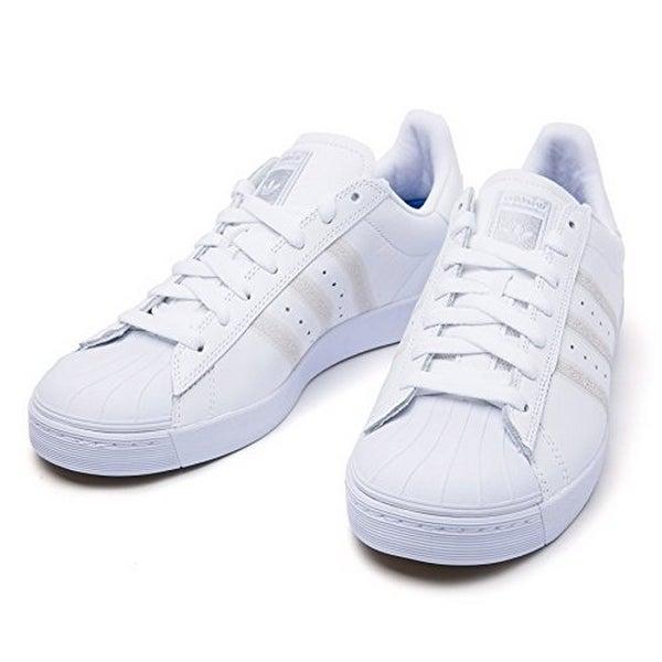 Adidas Mens Superstar Vulc Adv, Ftwwht,Ftwwht,Silvmt, 6.5