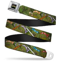 Classic Tmnt Logo Full Color Classic Teenage Mutant Ninja Turtles Group Seatbelt Belt