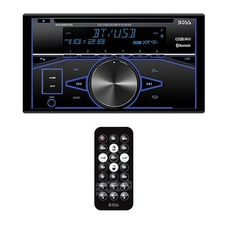 Boss DDin CD/MP3 Receiver Bluetooth USB/SD Front Aux Remote