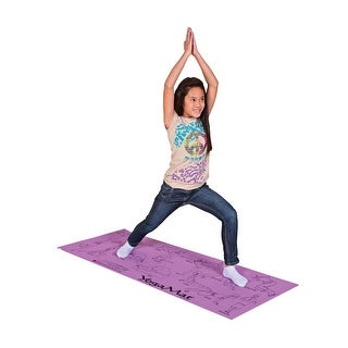 Sportime 68 x 24 in Youth Yoga Mat with Pose Images