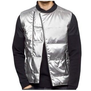 Calvin Klein NEW Silver Metallic Mens Size 2XL Sleeveless Puffer Vest