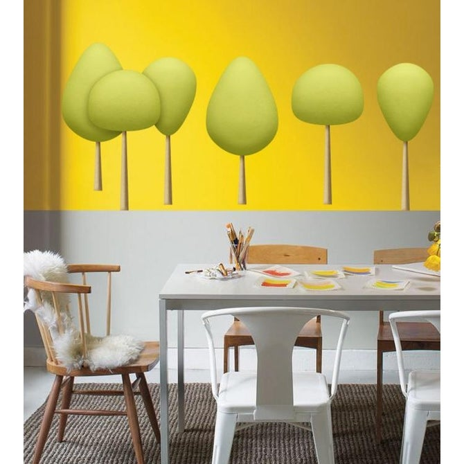 dc0238 Wall decals wall Stickers Twin trees Removable Wall Decal Tree and Birds Tree Wall Decals