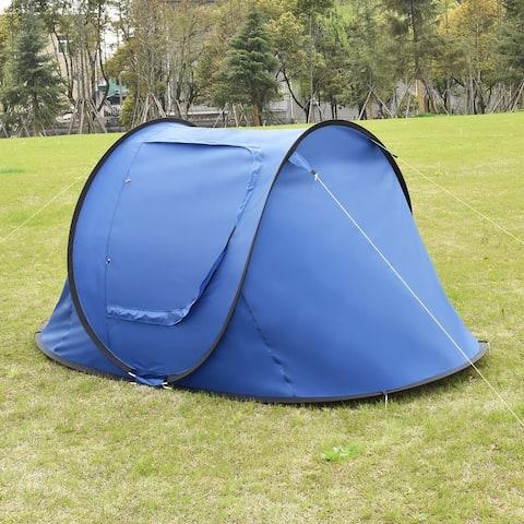 Waterproof 2-3 Person Camping Tent-Dark Blue